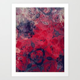 Skulls & Roses Art Print