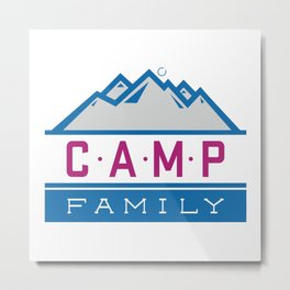CAMP Family Metal Print