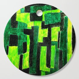 Three Green Puzzle Cutting Board