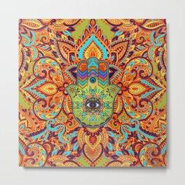 Colorful  Hamsa Hand -  Hand of Fatima Metal Print