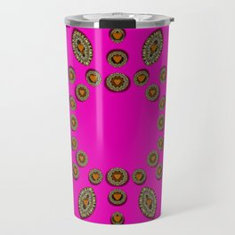 Sweet hearts in  decorative metal tinsel Travel Mug