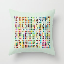 Geometric palette Throw Pillow