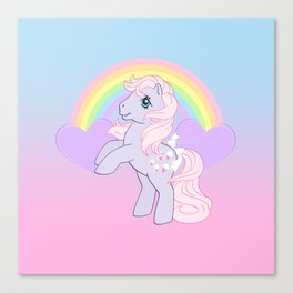 g1 my little pony lickety split Canvas Print