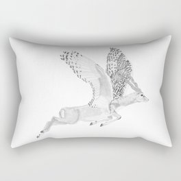 Combinations #7 - Antelope / Owl (FINAL) Rectangular Pillow
