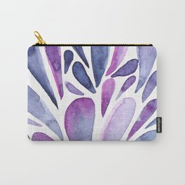 Watercolor artistic drops - purple and indigo Carry-All Pouch