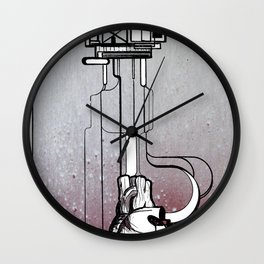 Rigged Heart - pumping nonesense Wall Clock
