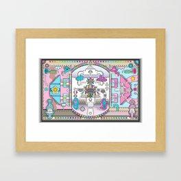perspective_blue_pink_wallpaper_large Framed Art Print