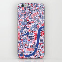 London City Map Poster iPhone Skin