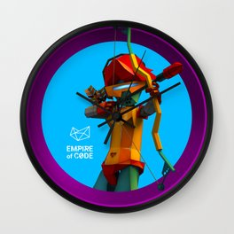 Empire of Code archer Wall Clock