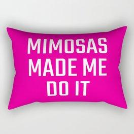 Mimosas Made Me Do It (Magenta) Rectangular Pillow