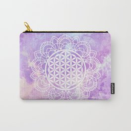 Flower Of Life (Soft Lavenders) Carry-All Pouch