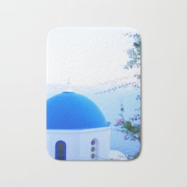 240. Blue Church, Greece Bath Mat