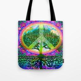 Tree of Life Peace Tote Bag