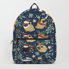 Christmas Pugs Backpack