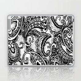 paisley batik black Laptop & iPad Skin