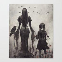Wednesday's Graveyard Canvas Print