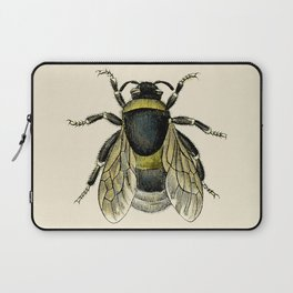 Vintage Bee Illustration Laptop Sleeve