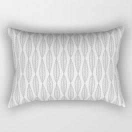 Minimal Gray Leaves Rectangular Pillow