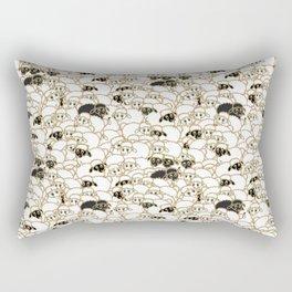 Flock of Silly Sheep Rectangular Pillow