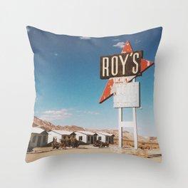 Roy's Retro Motel Throw Pillow