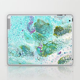 Abstract contemporary painting, aerial view of the ocean and its coral reef Laptop & iPad Skin