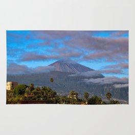 Volcano Teide on Tenerife Rug