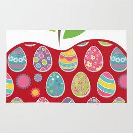 Easter Egg Hunt In Apple Funny Teacher Rug