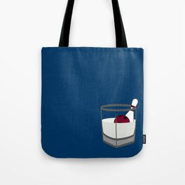 Hey, careful, man, there's a beverage here!  Tote Bag