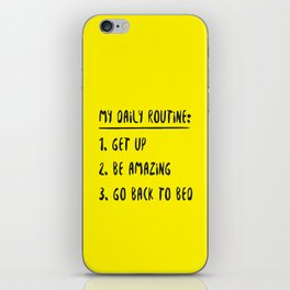 My Daily Routine iPhone Skin