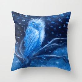 Spirits of the Moonlit Blizzard Throw Pillow
