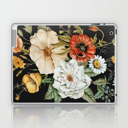 Wildflower Bouquet on Charcoal Laptop & iPad Skin