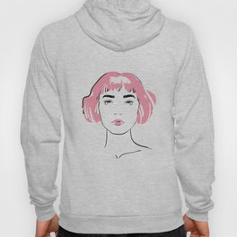 pink hair, don't care Hoody