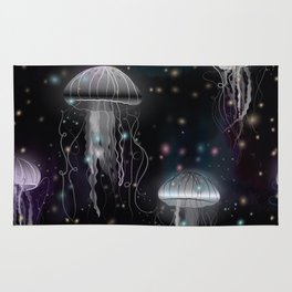 Night Jellyfish Rug