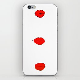 Red Lips Pattern iPhone Skin