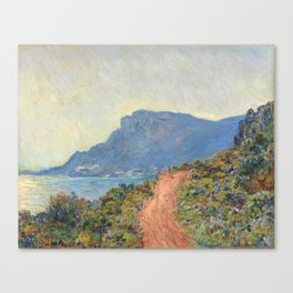 Claude Monet La Corniche near Monaco 1884 Canvas Print