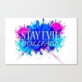 Dollface Canvas Print