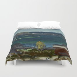 The Harbor, Monhegan Coast, Maine, 1913 Duvet Cover
