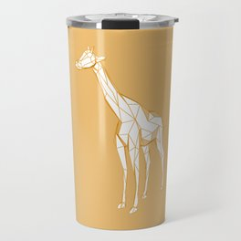 geometric giraffe Travel Mug