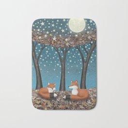 starlit foxes Bath Mat