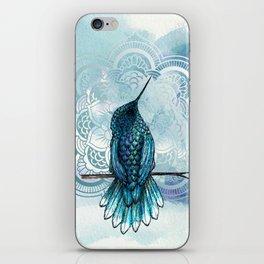 Aquarela hummingbird iPhone Skin