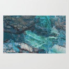 Cerulean Blue Marble Rug