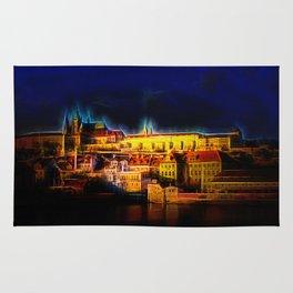 Fractal Prague castle glow UV Rug