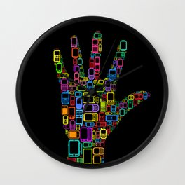 Mobile Phones Hand Wall Clock
