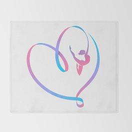 Rhythm of a Gymnast's Heart Throw Blanket