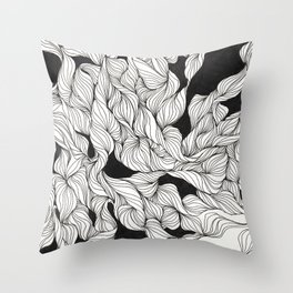 Abstract curlicues Throw Pillow
