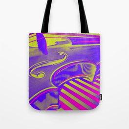 Neon Violin Pink n Yellow Tote Bag
