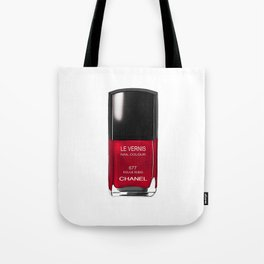 Nail Polish Rouge Rubis Tote Bag