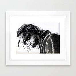 The joker - Heath Ledger Framed Art Print