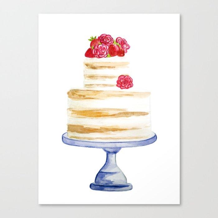 Berries cake Canvas Print