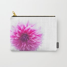 Dahlia On White Carry-All Pouch